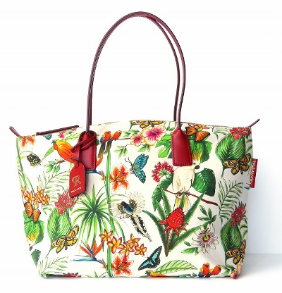 ROBERTA PIERI(ロベルタピエリ)|ROBERTINA TROPICAL FOREST LARGE TOTE